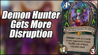 Demon Hunter Gets More Disruption | Card Review (Part 4) | Scholomance Academy | Hearthstone