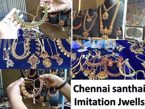 Chennai santhai / Imitation jewellery / Exhibition & sale -