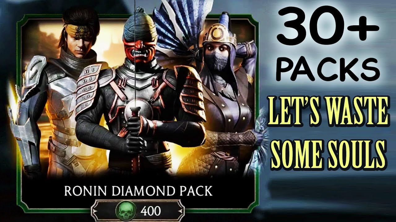 Mortal Kombat Mobile  HUGE Ronin Diamond Pack Opening  Why Am I SO  UNLUCKY???