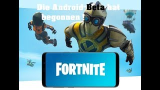 Die Android-Beta hat begonnen Fortnite Battle Royale Mobile