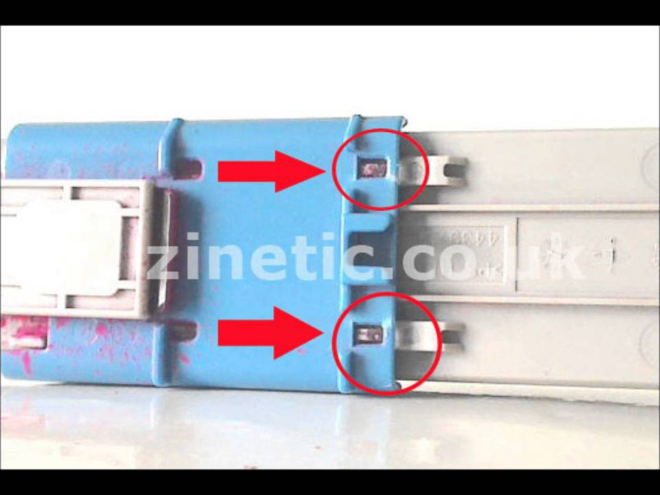 How to refill and reset the OKI C301 C321 toner cartridge