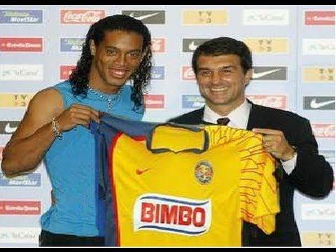 El Astro Brasileño Ronaldinho ● Podría Fichar Con el Club Mexicano El América