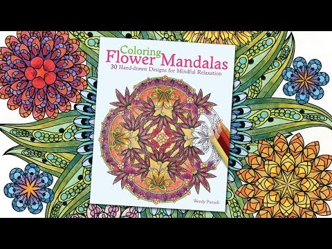 Coloring Flower Mandalas Book Preview by Wendy Piersall - YouTube