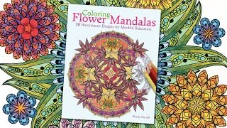 Coloring Flower Mandalas Book Preview by Wendy Piersall