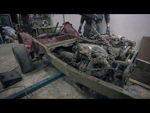 BATON. Сложности постройки корча из УАЗа. Три подрамника и 1JZ-GTE в БУХАНКЕ.