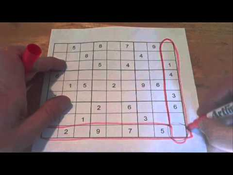How to Solve a Sudoku Puzzle - Tip 4: Intersection of a Row and Column Rule or Trick - Tutorial