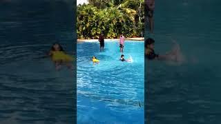 #1+ year kid# learning swiming#fun time