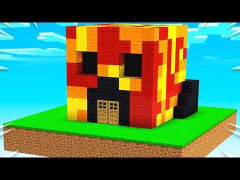 Preston vs Brianna Sky House Battle! - Minecraft