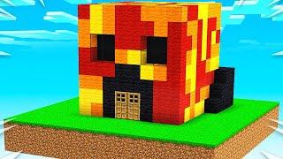 Preston vs Brianna Sky House Battle!  Minecraft