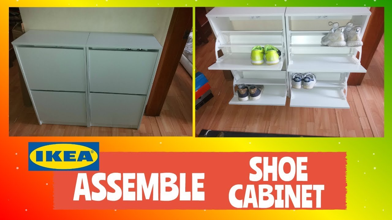 How To Diy Ikea Bissa Shoe Cabinet Youtube
