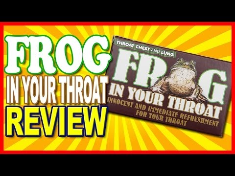 Frog in Your Throat TCL Lozenges Review (The lost videos From August 2013)