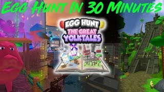ROBLOX EGG HUNT 2018 ANY% IN 30 MINUTES SPEED RUN!
