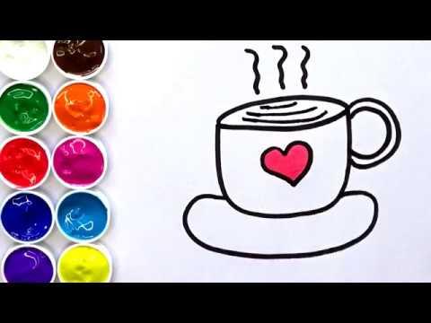 Aprende Como Dibujar Una Taza de Café !! Dibujos para Niños ...