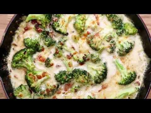 Creamy Garlic Parmesan Broccoli & Bacon