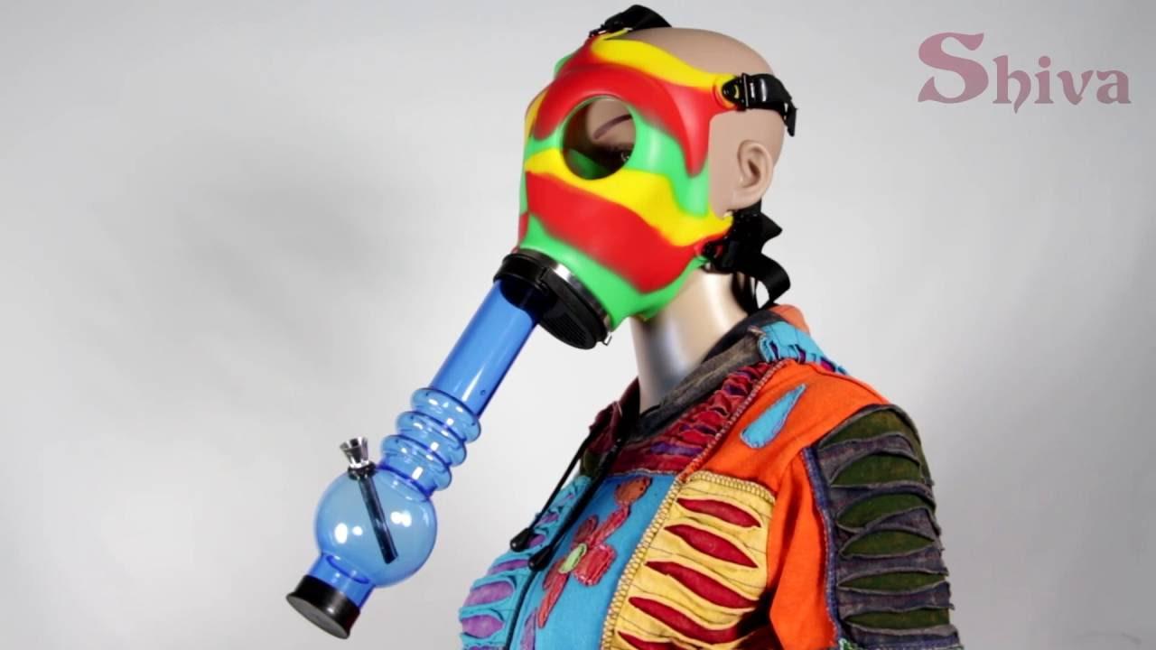 Rasta Gas Mask Bong : Shiva Online