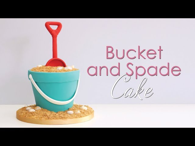 How to make a Bucket & Spade Carved Cake with edible sand