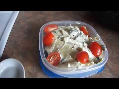 idée-repas-lunch:-pâtes-épinards-roquette