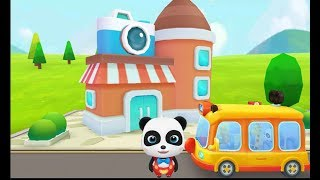 Little panda school bus Drive school bus to kindergarten,go shopping ...etc