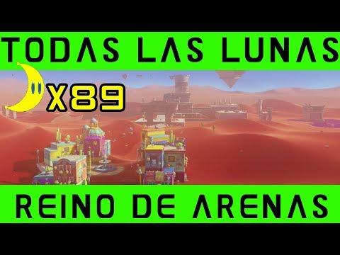 REINO de las ARENAS - TODAS LAS LUNAS - Super Mario Odyssey