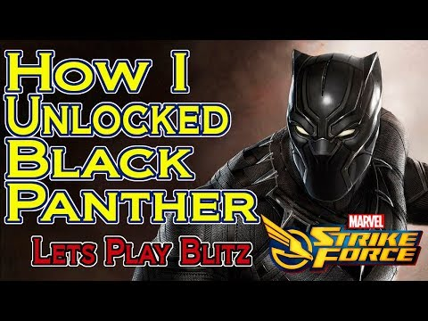 Marvel Strike Force - How I Unlocked Black Panther with Blitz Mode