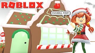 Christmas Party & Snowball Fight With Fans! Roblox: [❄️🎄SNOW!] MeepCity