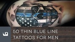 50 Thin Blue Line Tattoos For Men