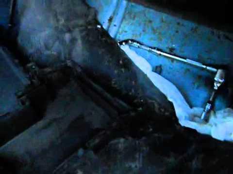 AC drip Pan leak repair! HVAC  AC water dripping inside car!