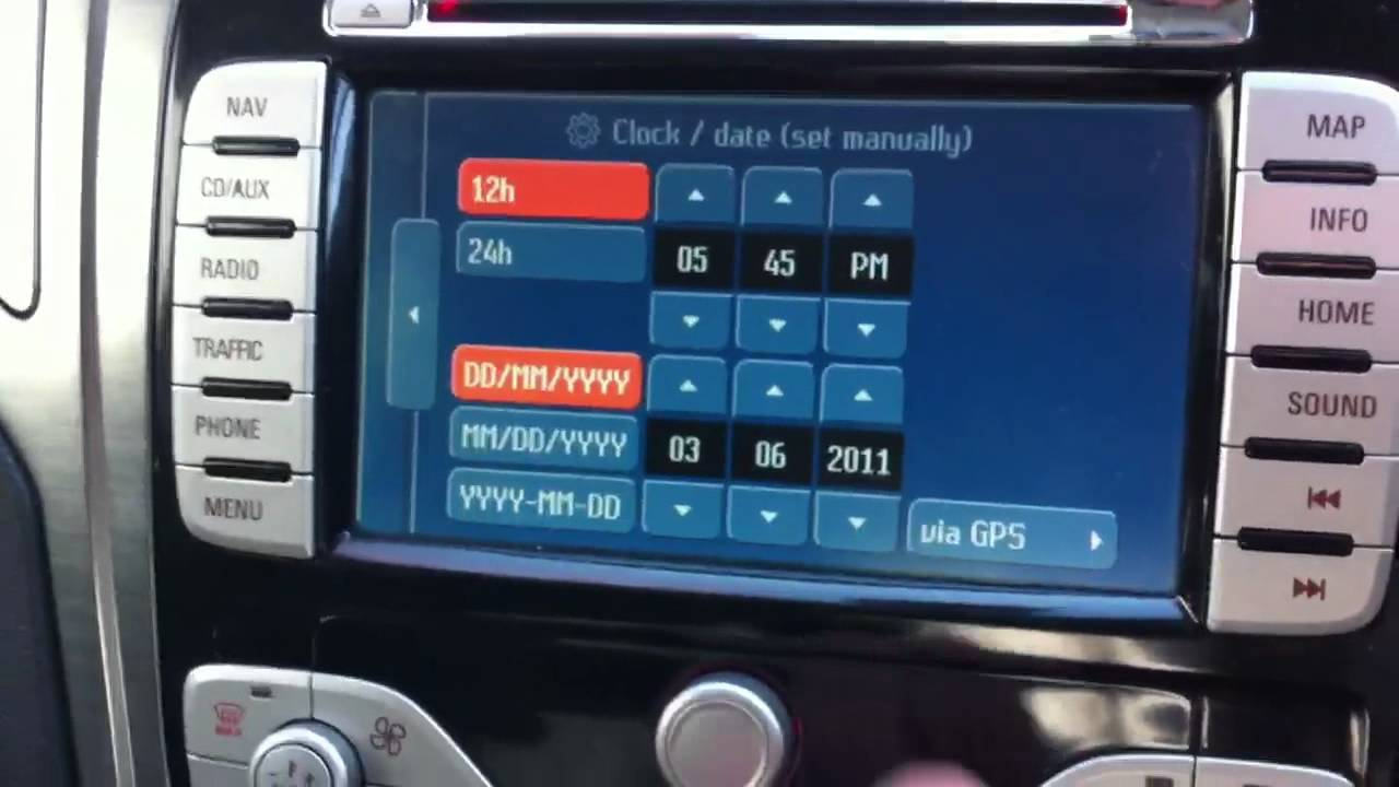 ford satnav system  sec   change  time youtube