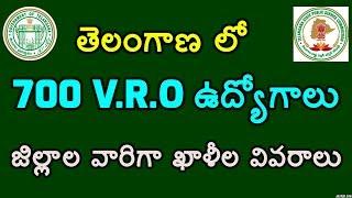 TS VRO Vacancies 2018. District wise Telangana VRO Posts/Jobs