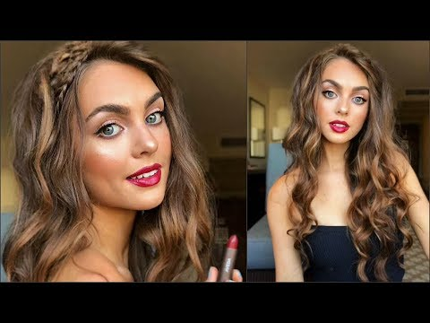 Aveda How-To | Glam Waves & Perfect Red Lip Tutorial with Jackie Wyers
