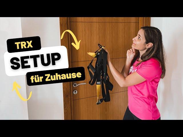 TRX Daheim befestigen | TRX aufhängen am Türanker oder an der Wand