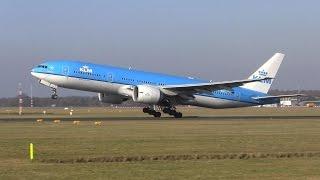 KLM ► Boeing 777 ► Touch & Go! ✈ Groningen Airport Eelde(, 2015-02-14T16:49:49.000Z)