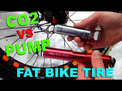 CO2 vs Mini Bike Pump - Fatbike Tire