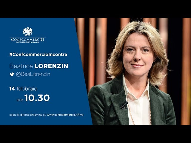 Beatrice Lorenzin a #ConfcommercioIncontra