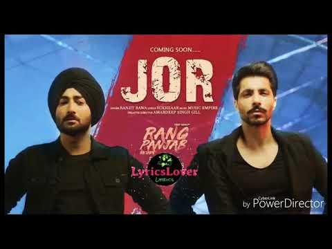 ranjit-bawa-/-jor/latest-punjabi-song-2018/rang-punjab