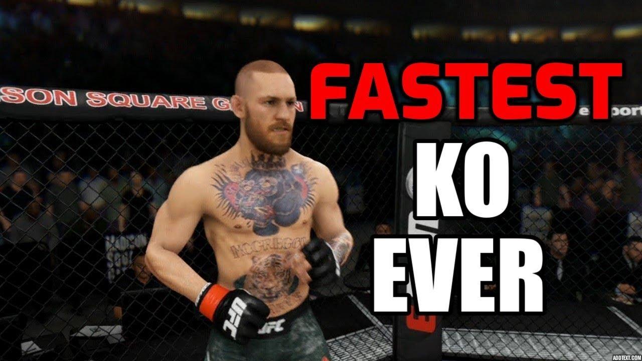 Ufc 3 World Record Fastest Knockout Youtube