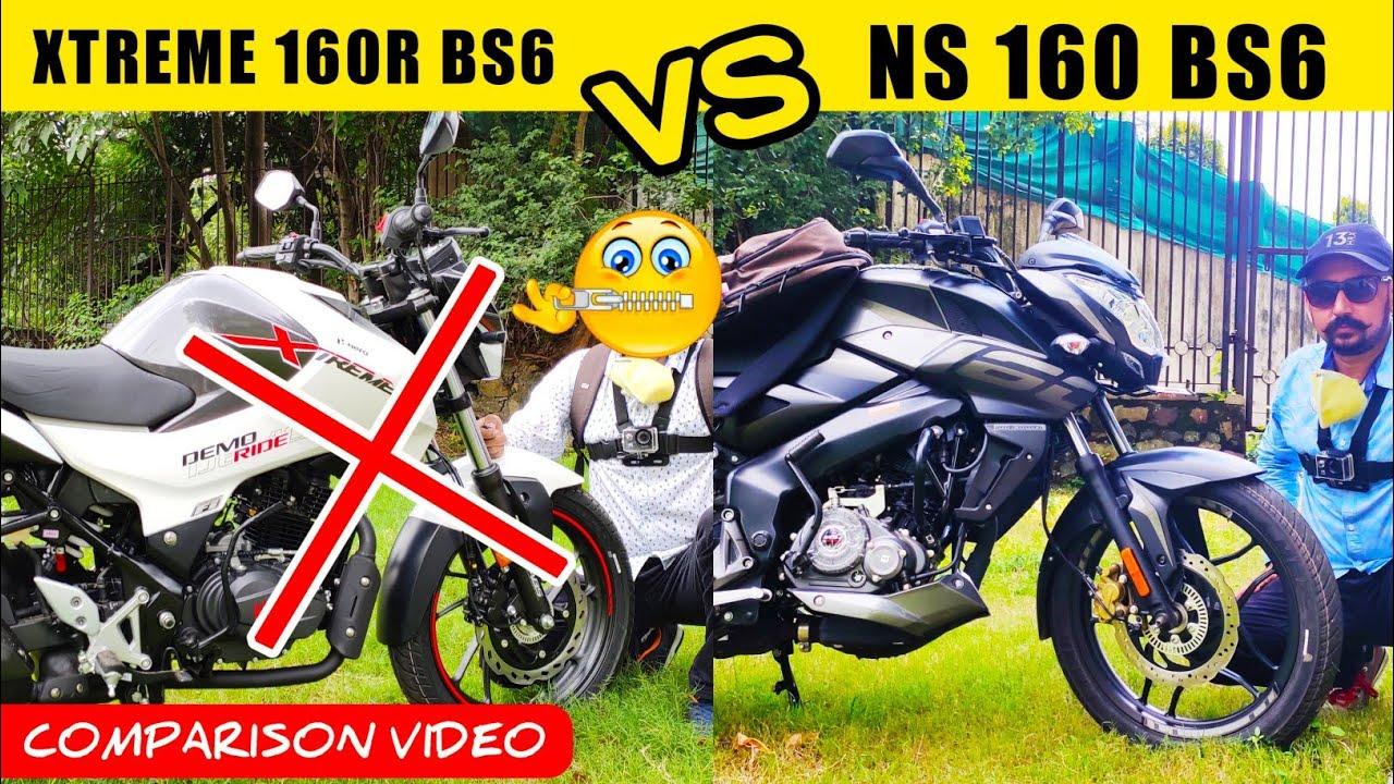 Hero Xtreme 160R BS6 VS Pulsar NS 160 BS6 Comparison Video