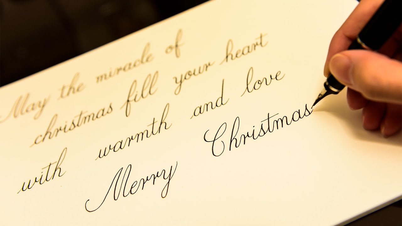 Fountain Pen Writing Christmas Card Youtube