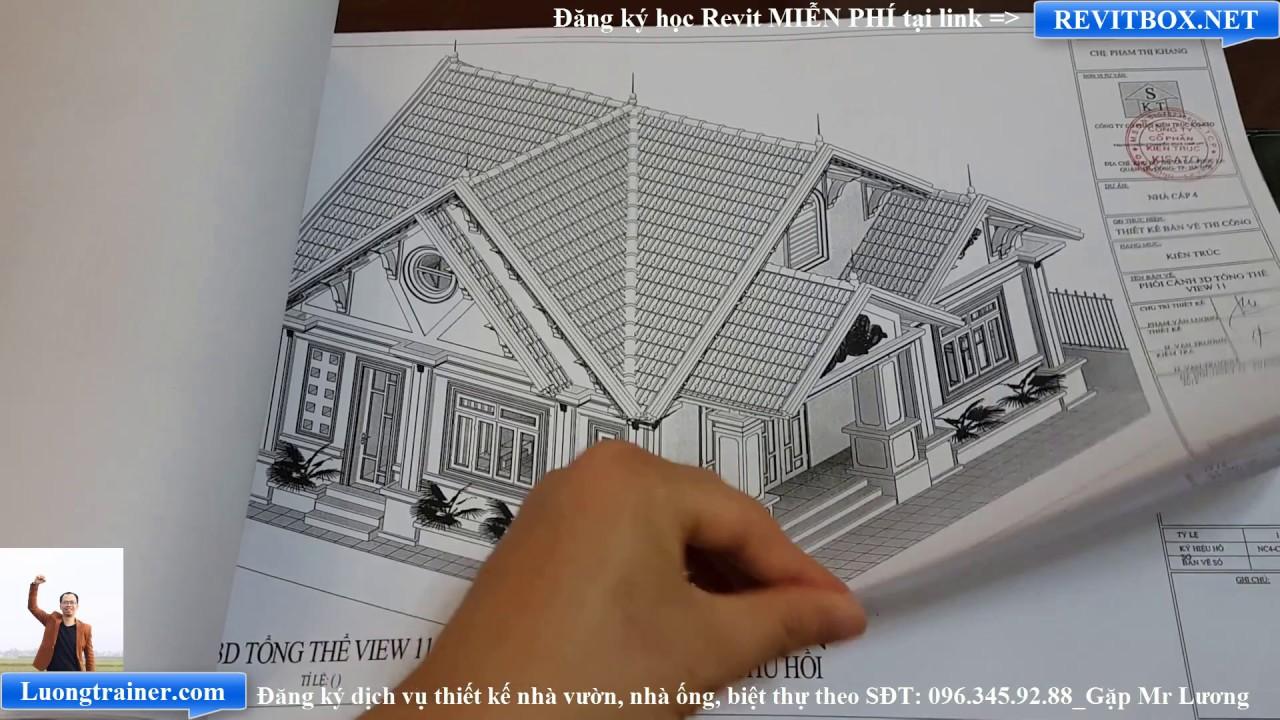 Bản Vẽ Mẫu Nhà Cấp 4 Đẹp Tại Thanh oai Hà Nội Làm Bằng Revit 2017-2018-2019