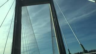 The Burlington Iowa Bridge across the Mississippi River