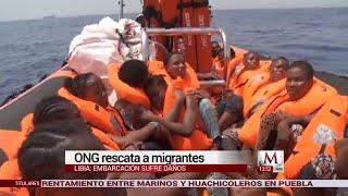 ONG rescata migrantes de Libia en el mar