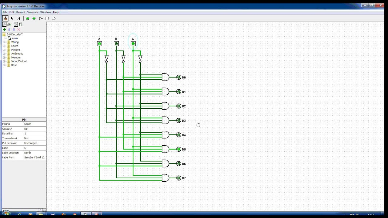 3 To 8 Decoder Youtube Encoder And Logic Circuit