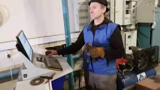 Обучение нового оператора работе на станке плазменной резке. 2015 год
