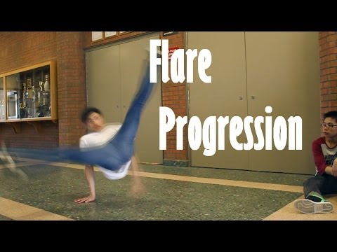 Breakdance Flare Progression