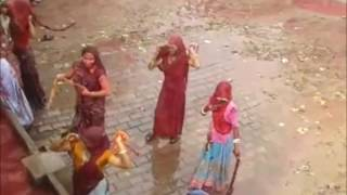 Ladies must watch !! Super wet village Holi festival scene from India