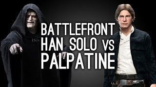 Star Wars Battlefront: Han Solo vs Palpatine - FORCE LIGHTNING!