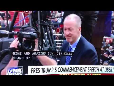 Trump at Liberty praising Jim Kelly