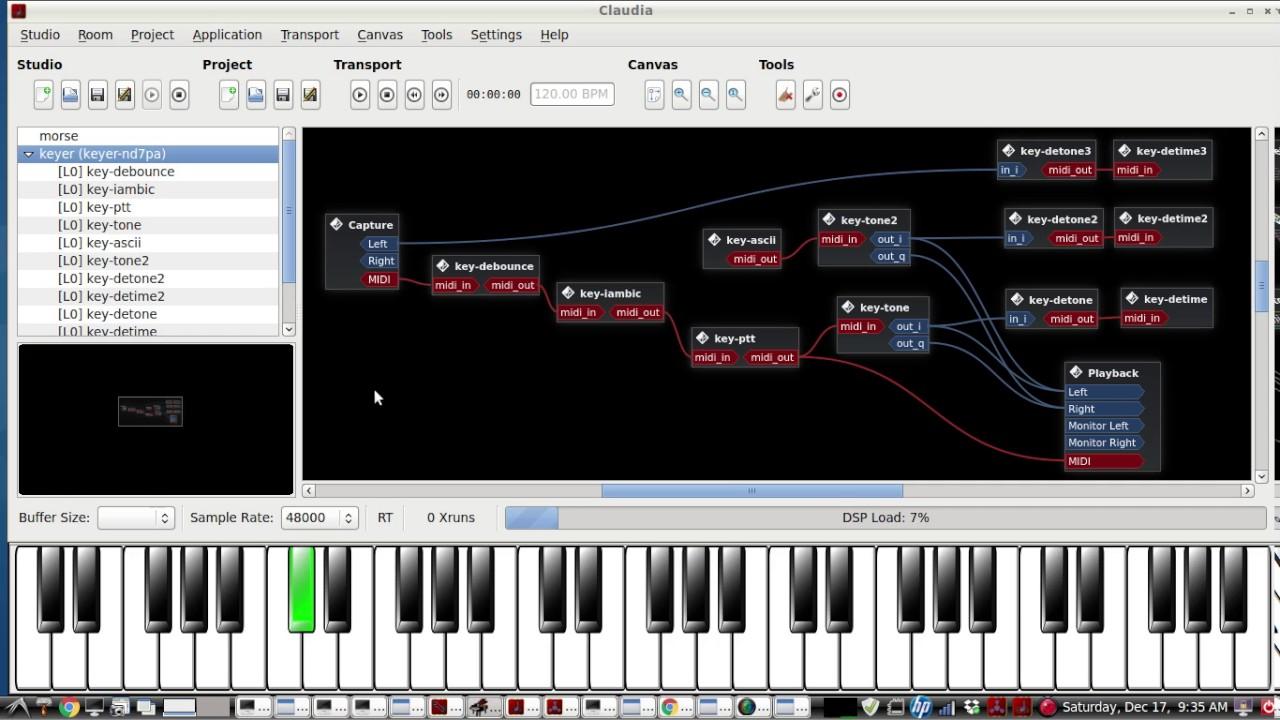 Ubuntu Morse Code APP - IAMBIC & STRAIGHT KEY, CW KEYER - by AD5DZ - live  demo