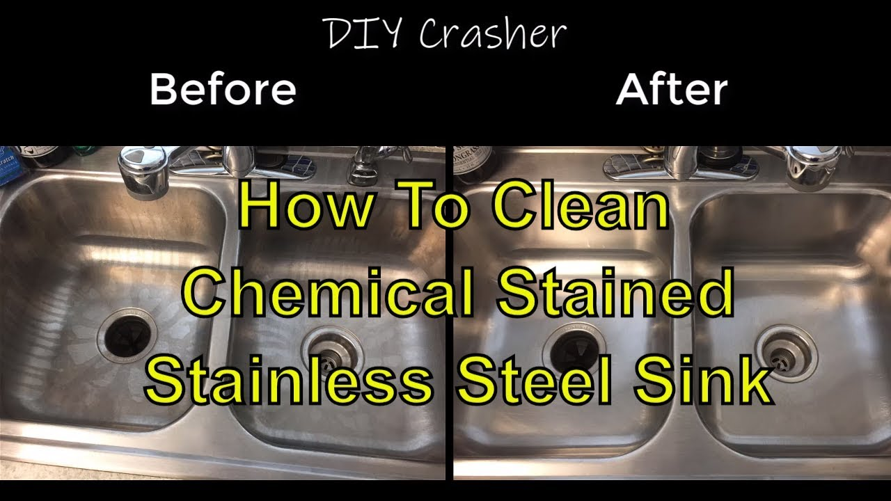 How To Clean Chemical Stained Stainless Steel Kitchen Sink