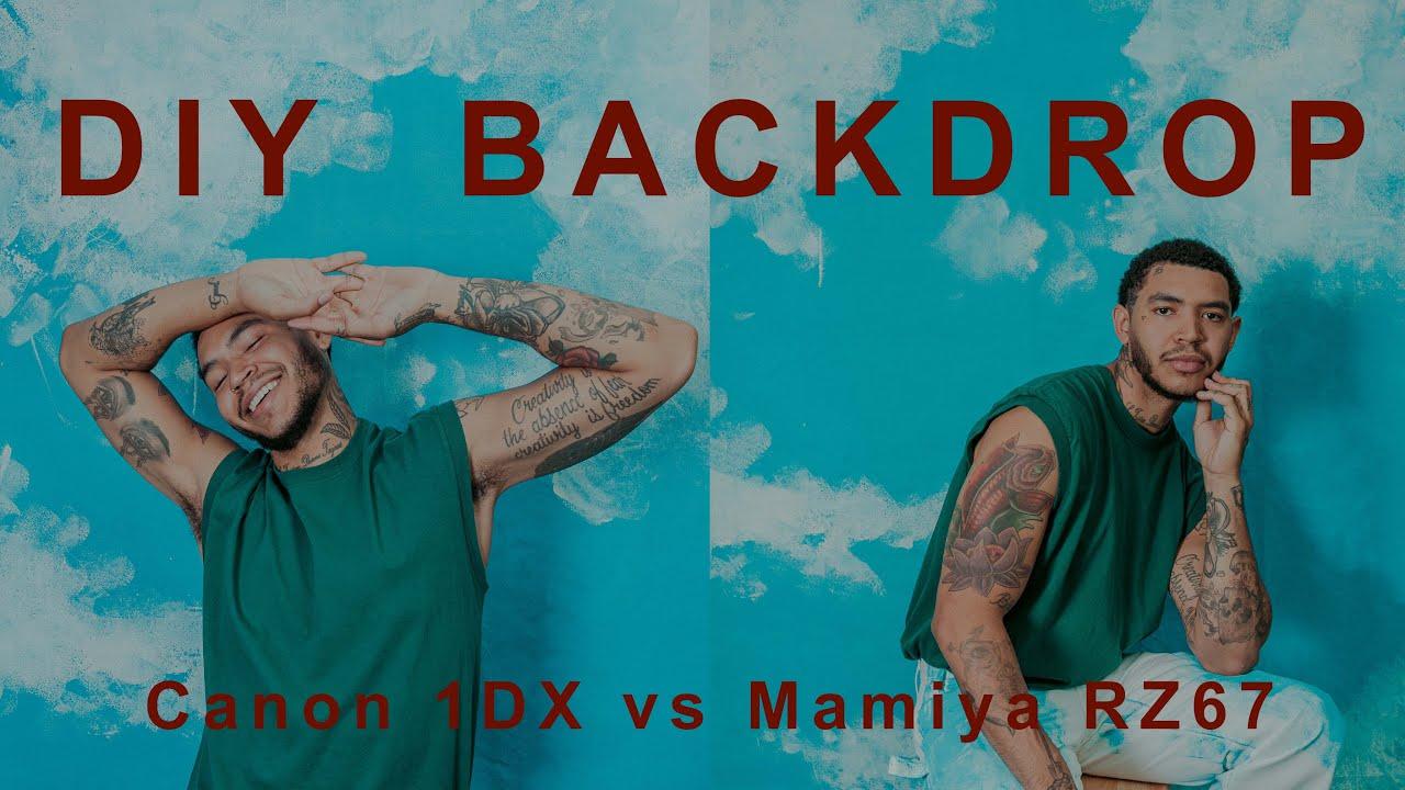 DIY BACKDROP ||| 1DX vs. Mamiya RZ67